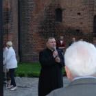 Pochód do placu Jana Pawła II z orkiestrą